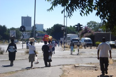 Bulawayo women transporting goods to their markets downtown (file photo).