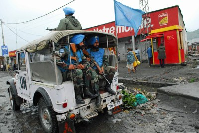 MONUC troops on patrol in Goma (file photo).