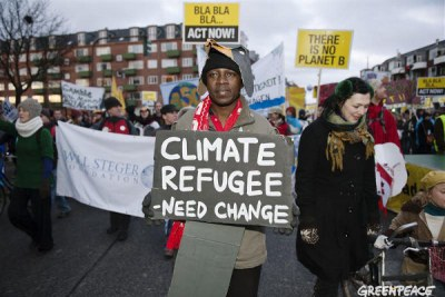 Up to 100,000 people take part in the climate demonstration on the Global Day of Action in Copenhagen.(file photo)