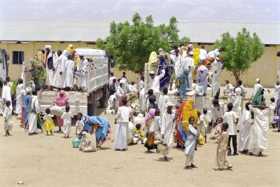 Long term Eritrean refugees returning from Sudan.