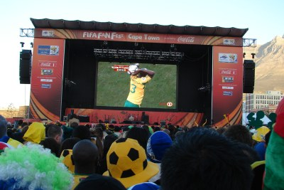 Bafana v France at a Cape Town Fan Park