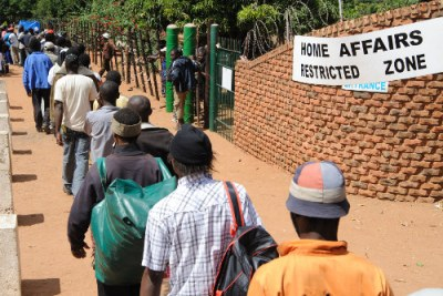 Zimbabwe asylum seekers (file photo).