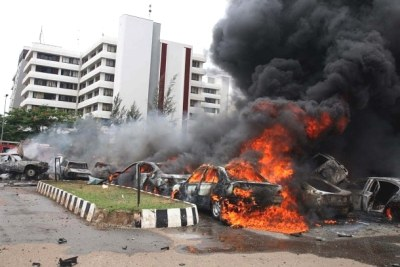 Bomb Blast: The aftermath of the bomb explosion in Abuja on June 16, 2011.