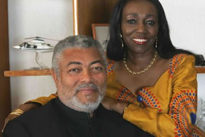 Former President Jerry John Rawlings and wife Nana Konadu Agyeman-Rawlings.