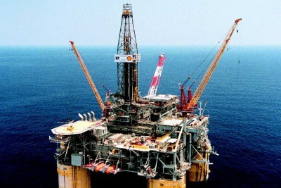 Oil rig in Nigeria.
