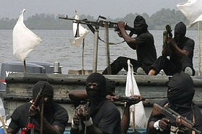 Pirates operating on the Nigeria coast.