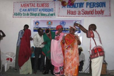 Members of a band creating awareness around mental health in Somalia (file photo).
