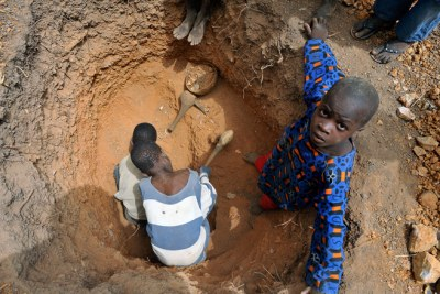 Children work on mines in many West African countries (file photo).