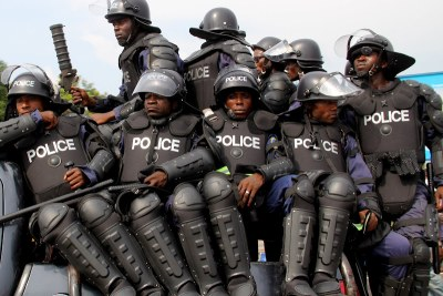 Police in the Democratic Republic of Congo.