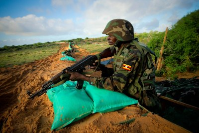 AMISOM troops on Mogadishu's front line (file photo).
