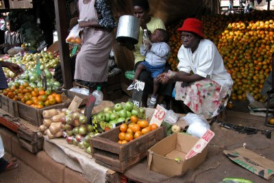 A fresh produce market: Citizens say they are unable to purchase necessary basic goods due to rising prices.