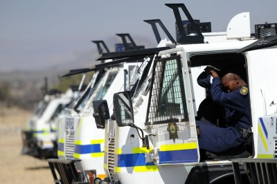 Police on standby at Marikana (file photo).