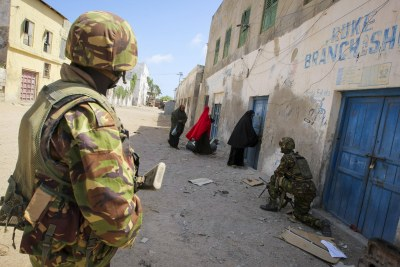 A.U. Troops in Kismayo.