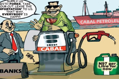 Cartoonist depicts corruption in Nigerian petroleum sector