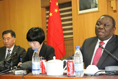Chinese Vice Premier, Wang Yang and Zimbabwean Prime Minister Tsvangirai discuss cooperation between the two countries.
