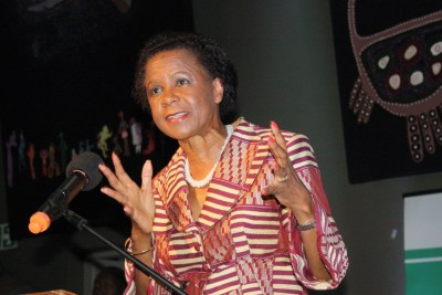 Mamphela Ramphele speaking on