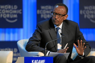 Rwanda President Paul Kagame at World Economic Forum in Davos January 2013
