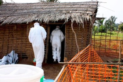 Ebola isolation area