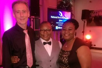 Aderonke Apata (middle) at The National Diversity Awards night #NDA2014.