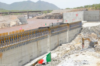 Grand Ethiopian Renaissance Dam on the Blue Nile River will house the largest hydroelectric power plant in Africa when completed.