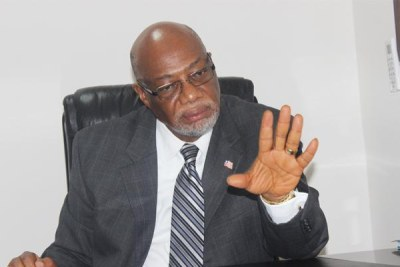 Liberia's ruling Unity Party Chairman, Varney Sherman.