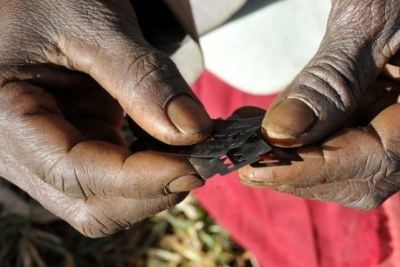Female Genital Mutilation (FGM) practised on women and girls in some tribes in Africa. (file photo).