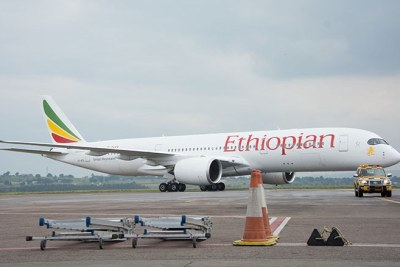 Ethiopian Airlines' latest plane addition, the Airbus A350XWB.