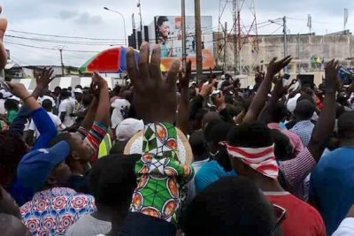 Opposition rally for in Libreville