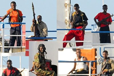 Somali pirates on the MV Faina (file photo).