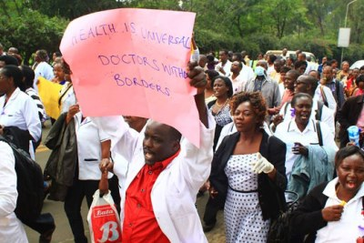 Doctors on strike (file photo)