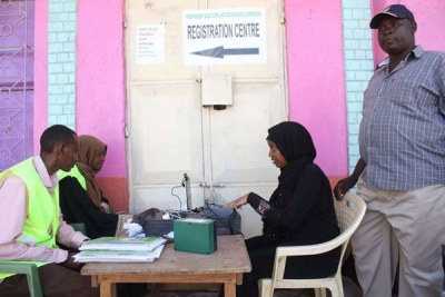 Voter registration goes on in Isiolo (file photo).