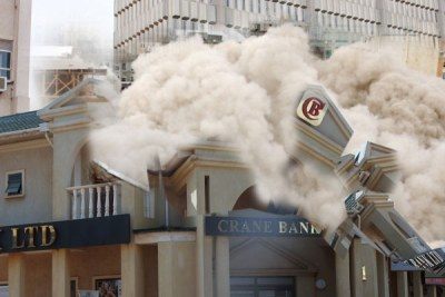 An illustration of how Crane bank operations collapsed.