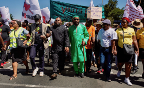 South Africans March Against Xenophobia in Johannesburg