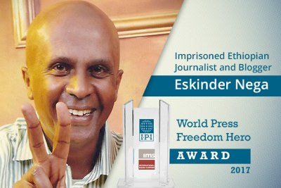 Ethiopian journalist and blogger Eskinder Nega.