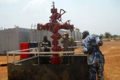 Oil drilling. Experts say the country can harness the huge opportunities that the oil sector presents to grow.