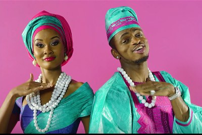 Diamond Platinumz and Hamisa in Salome.