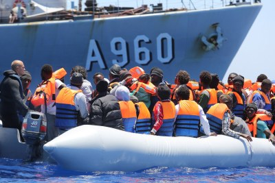 Migrants secourus en Méditerranée au large de la Sicile, en Italie. (archives)
