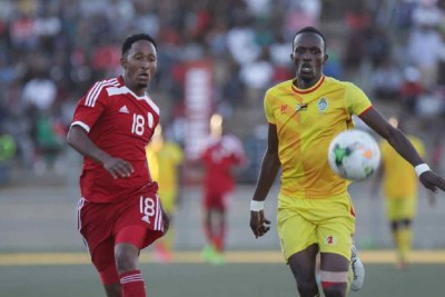 Muna Katupose on the attack for Namibia.