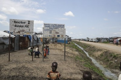 UN Protection of Civilians site in Malakal, South Sudan