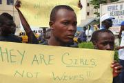 People attend a rally opposing child marriage in Monrovia (file photo).