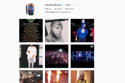 Davido becomes Nigeria's most followed celebrity on Instagram.
