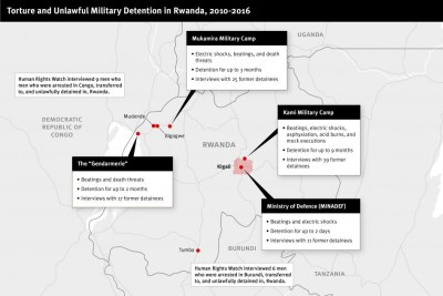 Torture and unlawful military detention in Rwanda, 2010-2016.