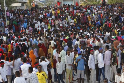 Somalian took to the street to protest against Al-Shabaab attack