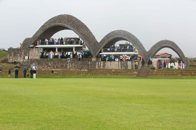 A view of the pavilion of Gahanga Cricket Stadium. President Paul Kagame officially inaugurated it on October 28, 2017.