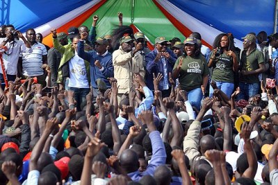 Nasa leaders with supporters at Jacaranda grounds on November 12, 2017.