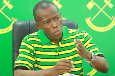 CCM Secretary for Ideology and Publicity, Humphrey Polepole.
