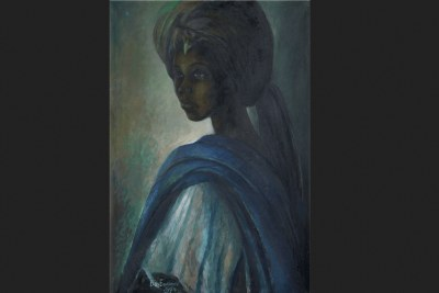 Ben Enwonwu's 1973 painting of the Princess Adetutu Ademiluyi, known as Tutu.
