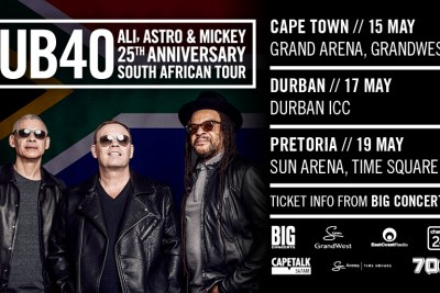 UB40's 25th SA anniversary tour.