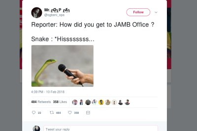 Nigerians reacts to 'money-swallowing snake' report