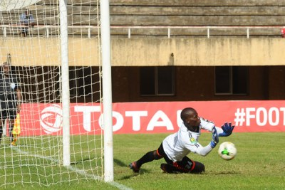 KCCA custodian Charles Lukwago was in good nick with a handful of point blank saves. He saved Ebeid's penalty in the 24th minute and there were several other nervous moments when he was forced out of the area to stop Mohamed Hussein and later Phakamani.